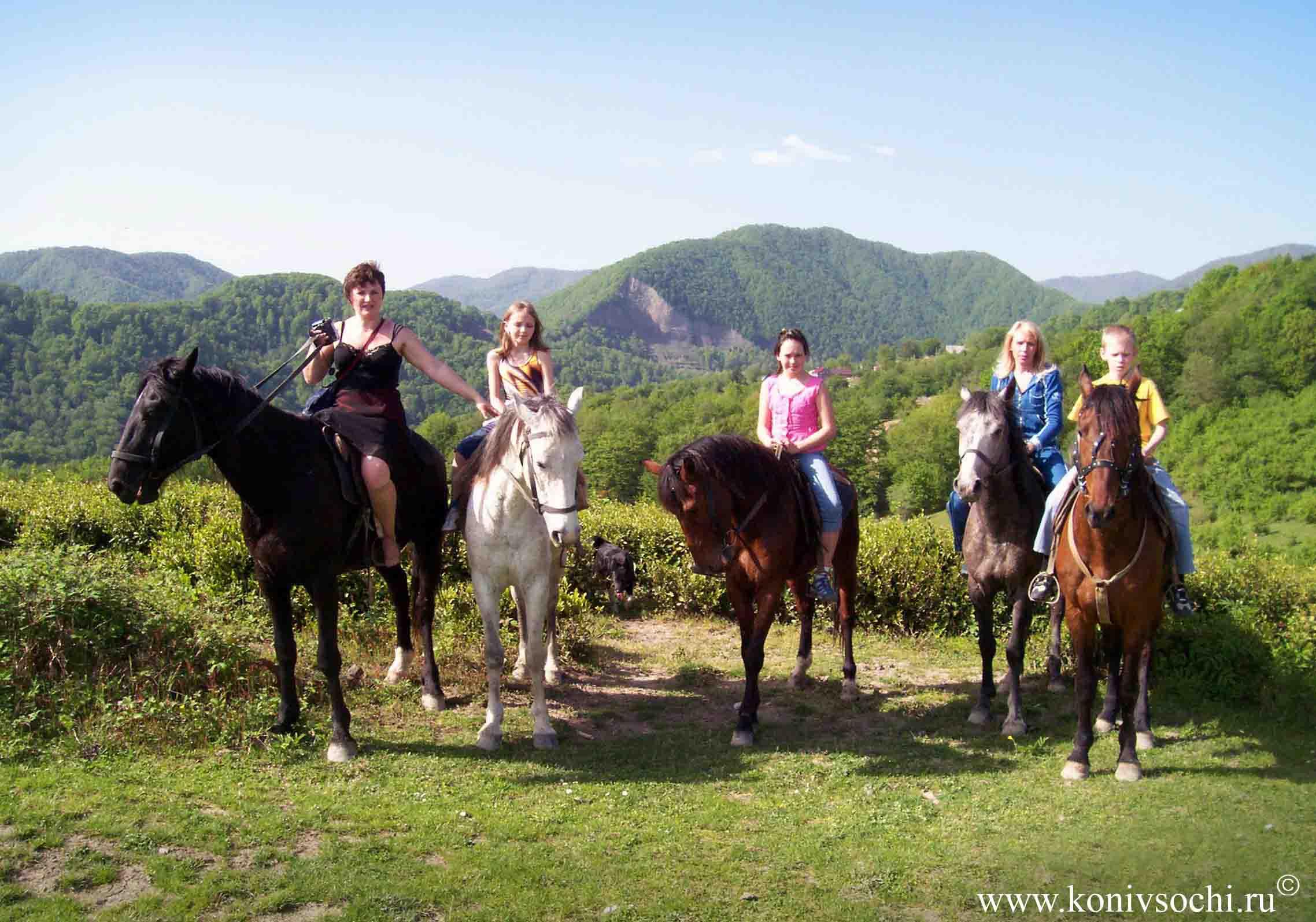 конный поход, конный тур, туризм, активный отдых в горах Кавказа, Сочи, Дагомыс